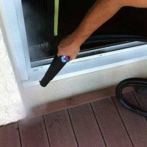 nettoyeur vapeur professionnel, décolmatage raille de fenêtre et nettoyage vapeur sèche au nettoyeur vapeur professionnel ACNET Entreprise de nettoyage Meyzieu Pusignan Rhône-Alpes